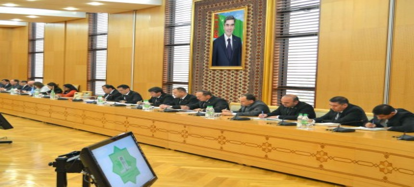 MEETING OF THE INTERDEPARTMENTAL WORKING GROUP ON THE PREPARATION OF THE WORKING PLAN OF TURKMENISTAN IN THE FRAMEWORK OF ELECTION TO THE STRUCTURES OF THE UN
