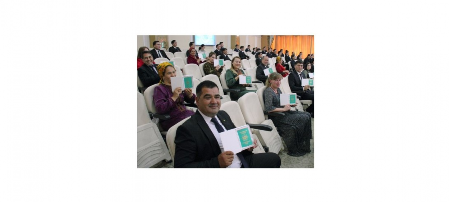 ON THE EVE OF THE 30TH ANNIVERSARY OF INDEPENDENCE OF THE COUNTRY THOUSANDS OF PEOPLE HAVE BECOME CITIZENS OF TURKMENISTAN