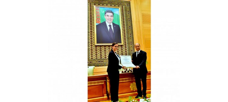 TURKMENISTAN RECEIVES UNICEF'S AWARD LETTER FOR SUSTAINING HIGH IMMUNIZATION RATES